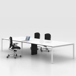 호화스러운 중역 회의실 식탁 강화 유리 교섭 회의 책상
