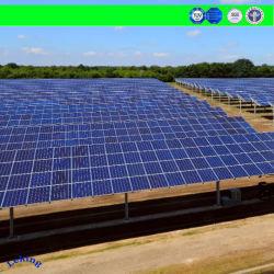 태양 전지판 지원 편평한 지붕/지상 또는 간이 차고 또는 경작지 태양 장착용 나사 시스템을%s 강철 구조물 태양 지상 장착 브래킷이 중국에 의하여 직류 전기를 통했다