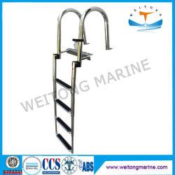 Barco de navio de cordas de amarração/Alumínio, Aço Inoxidável Marine Base Portátil escadas de quebra para Pequenas embarcações