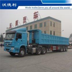 3 アクスル U 形状 / 油圧ダンプ半トレーラ(建設廃棄物 / 砂 / 鉱山用) 低価格で