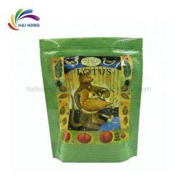 Custom trois côtés du joint de chaleur à bord rond sac d'aluminium d'emballage alimentaire