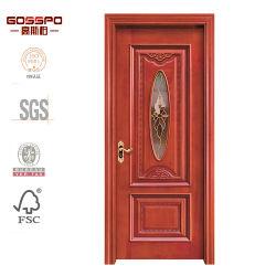 Projeto de madeira de vidro de cinzeladura dianteiro indiano sul da porta (GSP3-006)