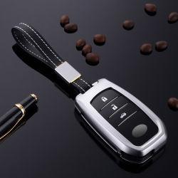 トヨタの王冠スマートなカバー車のキーケースアルミニウムのための高品質3ボタンの遠隔主シェル