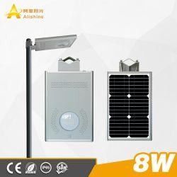 8W 3-5 лет гарантии комплексного использования солнечной энергии настенный светильник с пассивный инфракрасный датчик для уличного освещения