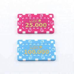 Freies Beispielgroßverkauf-Qualitäts-Schürhaken-Chips bricht kundenspezifisches ABS Kasino preiswerte spielende Plastikchips ab