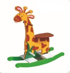Brinquedos de madeira e brinquedos para bebés Fábrica do Fabricante de madeira Rocking Horse para crianças e Childen