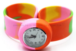 OEM Candy Color Silicone Children Quartz Clap Slap Watch