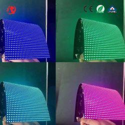 Круг P5мм для использования внутри помещений на экране Curving мягкий гибкий светодиодный дисплей модуль SMD газа полноцветный светодиодный экран Soft