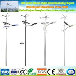 60W de puissance hybride vent solaire LED système Rue lumière extérieure