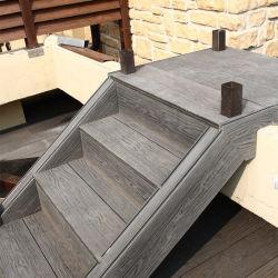 Compuesto de plástico de madera cubierta de piso de madera