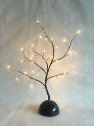 DIYの木の銅線LEDの照明クリスマスの装飾