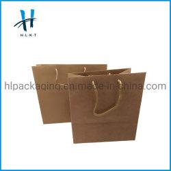 ロゴプリントが付いている包装袋のショッピングクラフト紙袋