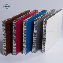 Цвет металлик ячеистой алюминиевой конструкции сэндвич панелей для внутренней и наружной стены оформлены ячеистой алюминиевой конструкции стены оболочка панелей