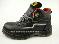 PU Chaussures de sécurité en cuir avec maille respirante Linning