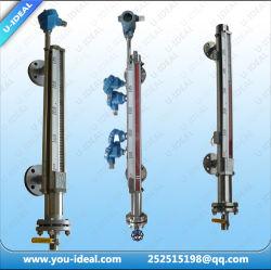 Color rojo/verde doble tubo de vidrio, Transprent Reflex Visor Indicador de nivel de agua- indicador de nivel de flotador magnético