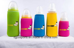 Kids、ShoulderのCustom Neoprene Baby Bottle Cover Cooler Sleeveのための卸し売りCute Printed Insulated Water Milk Bottle Cover