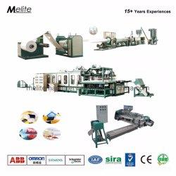 PS de mano mecánico de la línea de producción de contenedores de alimentos de espuma