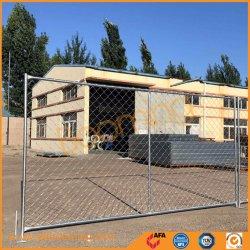 Norme de 11,5 ga Amérique clôture temporaire de maillon de chaîne en acier galvanisé