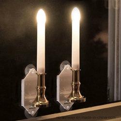 季節的な装飾のための吸引のコップが付いている現実的なFlameless LEDの太陽明滅の蝋燭の軽く再充電可能なWindowsの壁ランプ