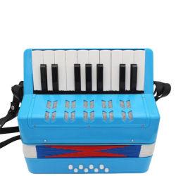 17 teclas del teclado Bass 8 Botón acordeón de juguete para niños