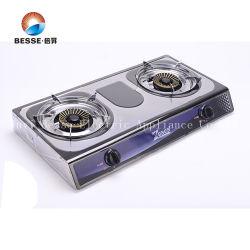 aço inoxidável portáteis baratos fogão a gás com queimadores duplo (ZG-2058)