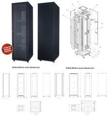 """ an der Wand befestigter Montierungs-Netz-Server-Daten-Schrank der Zahnstangen-42u 19 es Rackmount"