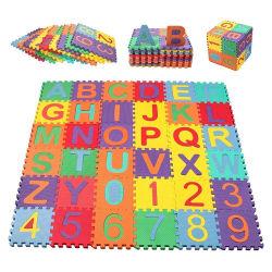 Aangepast alfabet nummer Foam Floor Tegels Puzzel Baby Play Mat