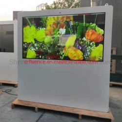 ODM/OEM IP65 درجة سطوع عالية 32، 43، 55، 65 بوصة، وضع الوقوف في الأرضية، منظر طبيعي PCAP G+F 10-Point Touch Single Sided Kiosk، شاشة Android