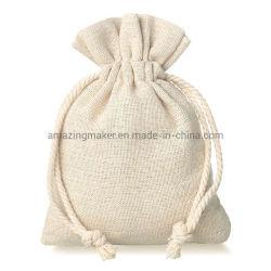 Eco-Friendly 100% de linho Natural Dom Linho Embalagem Saco Bolsa