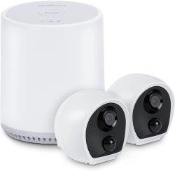 Камеры безопасности беспроводной сети для использования вне помещений, 2 ПК 1080P для использования вне помещений Wireless WiFi домашние системы безопасности система камер с 2 аудио, обнаружение движения, водонепроницаемый ночного видения