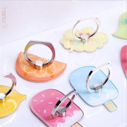 Livraison gratuite de fruits de formes personnalisées de l'acrylique téléphone sonner titulaire avec l'impression UV pour cadeau
