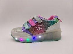 Schoenen van de Kinderen van de Wielen van de Tennisschoenen van de Schoenen van jonge geitjes de Lichtgevende met Lichte LEIDENE Schoenen