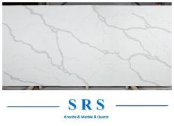 Calacatta Quarttz الأبيض كريستال كوارتز منضدة رخامية اصطناعية/حجر علوي فانيتي السعر