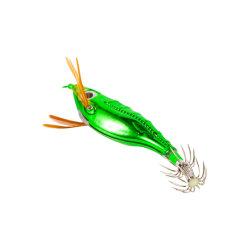 Electroplated grandes olhos lulas e calibre a pesca atrai Madeira Fishhook Camarão