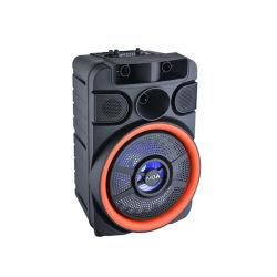 """8 """" Chariot de karaoké multimédia Portable Air audio Bluetooth avec batterie de l'alimentation haut-parleur et microphone sans fil"""