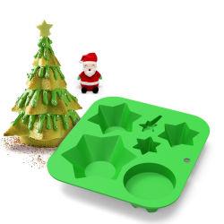 عيد الميلاد شجرة كعكة Silicone كعكة الخبز كعكة عيد الميلاد الدكان الدمى الأطفال لهدية الديكور المنزلي