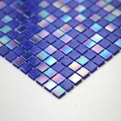 이리데슨트 글래스 모자이크 스퀘어 쉐이프 블루 색상의 모자이크 수영장 욕실 장식 - Ysfgm15