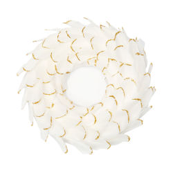 White Feath Decoração Coroa Festival de terceiros de ornamentação