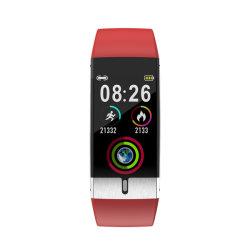 تقنية باللون الأسود الذكي E80 لحماية البيئة شريط البولي يورثان المتلدن بالحرارة (TPU) 2020 NFC ساعة ذكية لضغط الدم