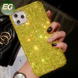 PC022 Glitter de cristal de cuerpo completo Sparkle Bling brillante diseño Slim protector blando Rhinestone cubierta de la caja de teléfono para el iPhone 6/7/8/X/Xs 11 PRO MAX/11/Xs máx.