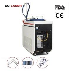 آلة لحام ليزر محمولة باليد مصنوعة من الألياف من أجل لحام من الفولاذ المقاوم للصدأ