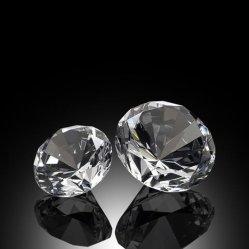 Kundenspezifischer Kristallbereich-Diamant-Beleuchtung-Papiergewicht-Anhänger für Geschenk
