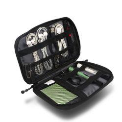 Organizador de cables de la moda de la bolsa de almacenamiento digital de la bolsa de accesorios electrónicos caso con el disco ranuras para tarjetas SD / teléfono Conector bolsa