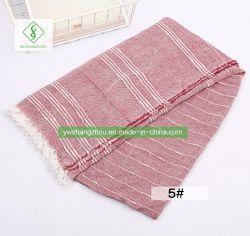 최신 판매 Retro 면 Yarn-Dyed Shawl 줄무늬 스카프 형식 숙녀