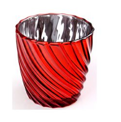 Venda por grosso de fábrica de vidro de mercúrio Titular Tealight Votiva titulares de Velas Vidro Vela Votiva misturador