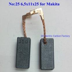 Elettrodomestici, lavatrice, terminali delle spazzole di carbone degli accessori degli attrezzi a motore del frigorifero per Makita 6.5*11*25
