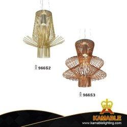 Высокое качество цвета шампанского углеродистой стали подвесной светильник (966S2)
