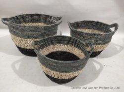 Cestino Rush Grass/cestello di stoccaggio/cestino acquisti/cestino regalo/cestino di mais/cesto per il granchio/cesto