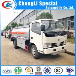 Lichte Dongfeng 4X2 3cbm 3000liters-tankwagen met benzinemotor