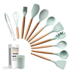 أدوات الطبخ Silicone من فئة الطعام وأدوات المطبخ وأدوات الطبخ مع التخزين صندوق
